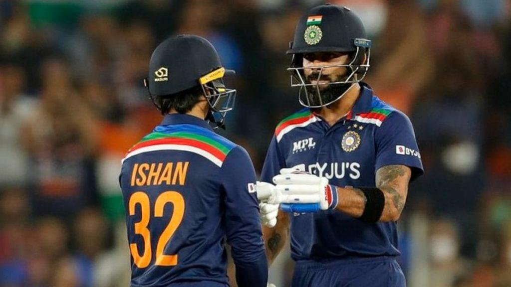 Ishan Kishan and Virat Kohli