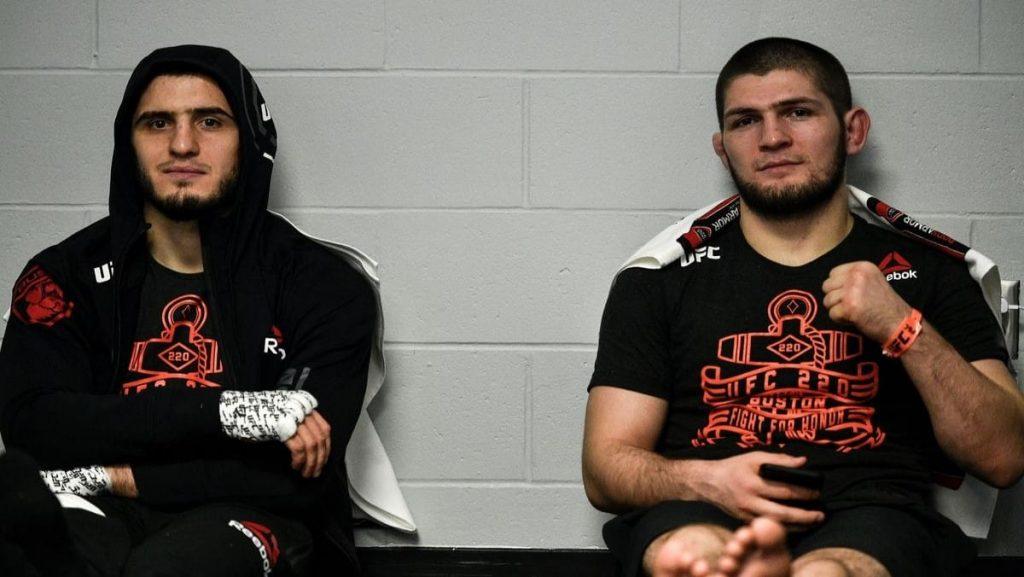 Islam Makhachev and Khabib - FirstSportz