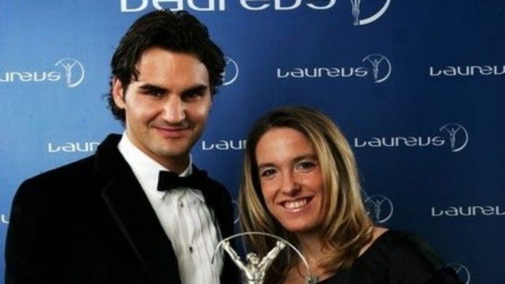 Justine Henin and Roger Federer