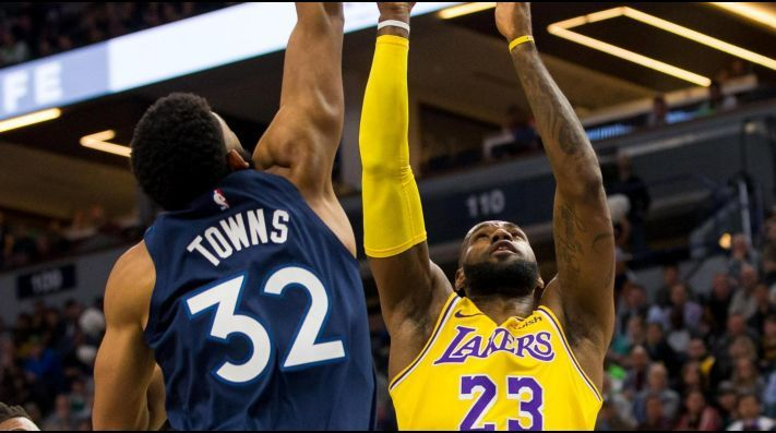 Karl Anthony Towns and LeBron James - FirstSportz