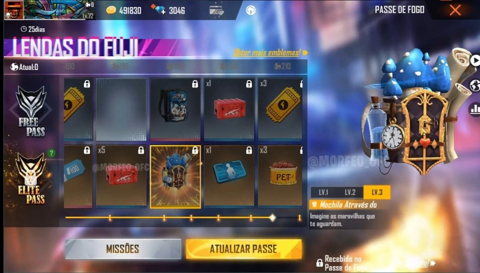 Free Fire Season 34 Elite Pass