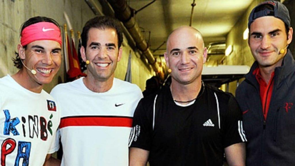 Rafael Nadal, Pete Sampras, Andre Agassi, Roger Federer