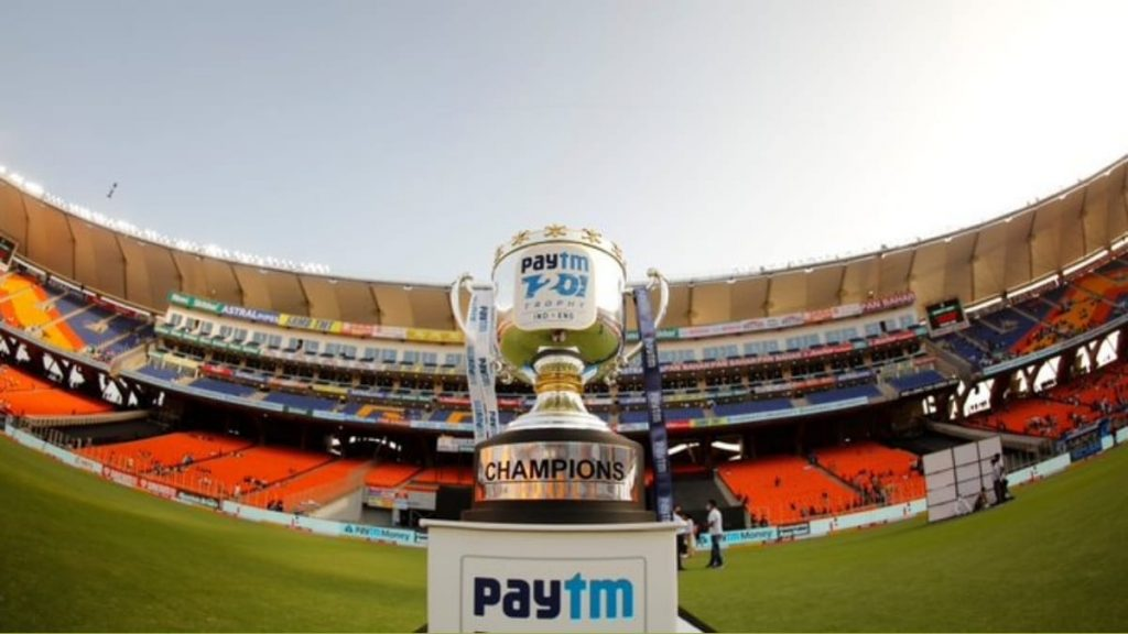 Paytm T20I series trophy