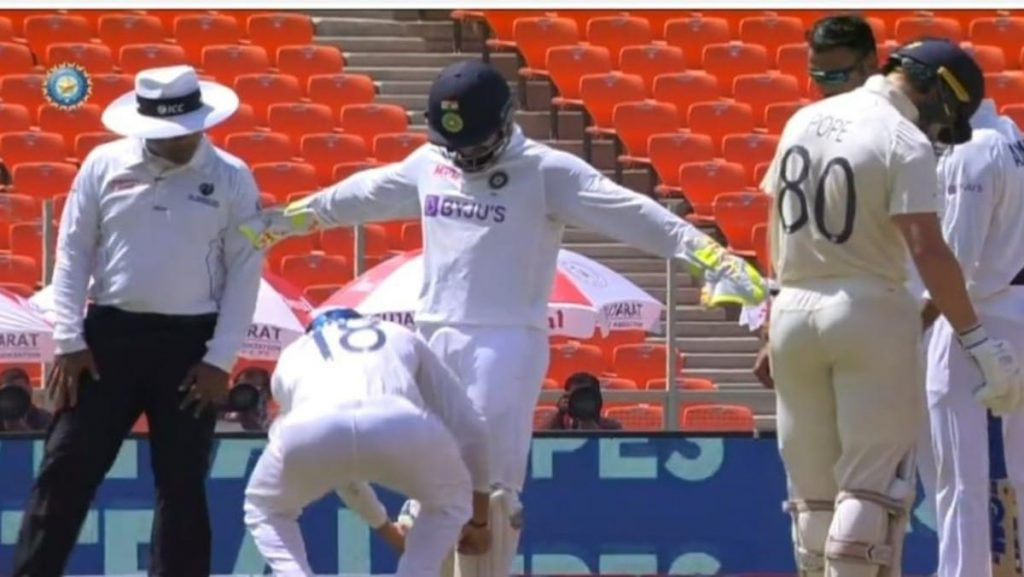 Rishabh Pant being searched for missing bail
