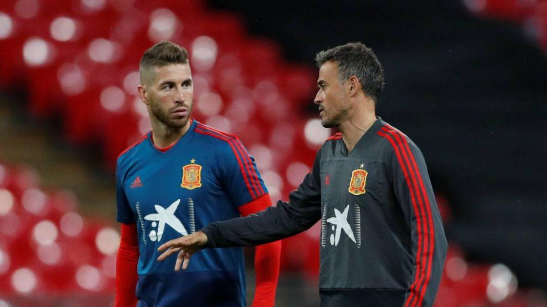 Sergio Ramos and Luis Enrique