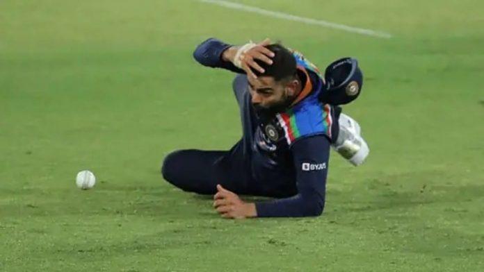 Virat Kohli catch dropped
