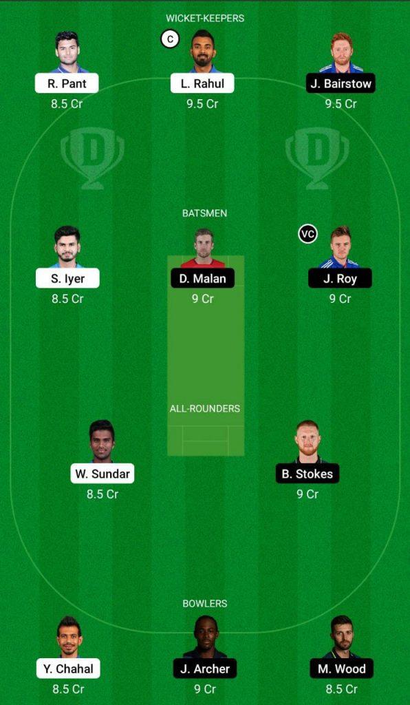 India vs England 2nd T20 Dream11