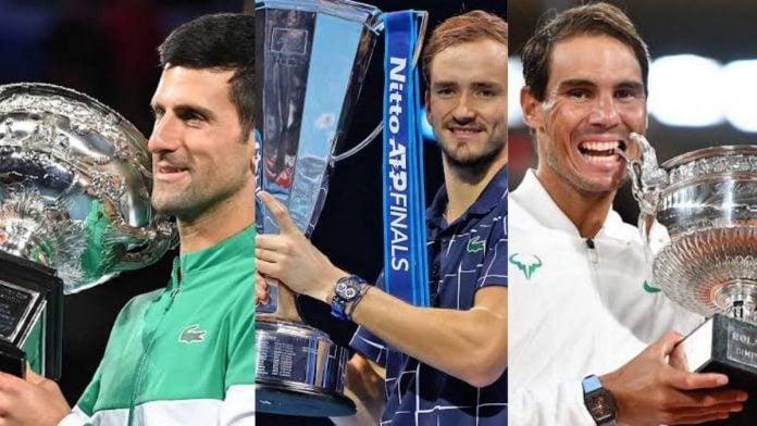 Novak Djokovic Daniil Medvedev Rafael Nadal