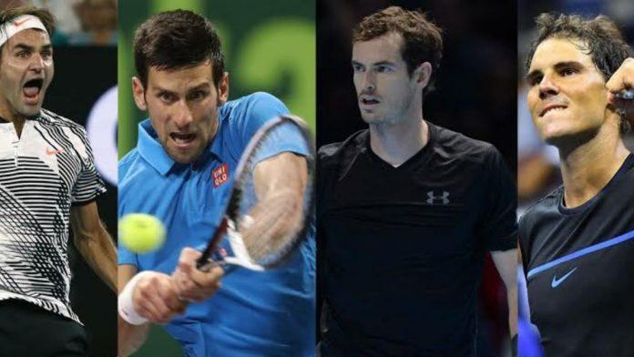 Roger Federer Novak Djokovic Andy Murray Rafael Nadal