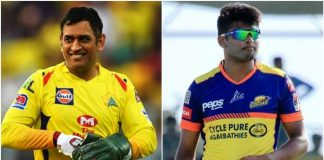 MS Dhoni and K Gowtham
