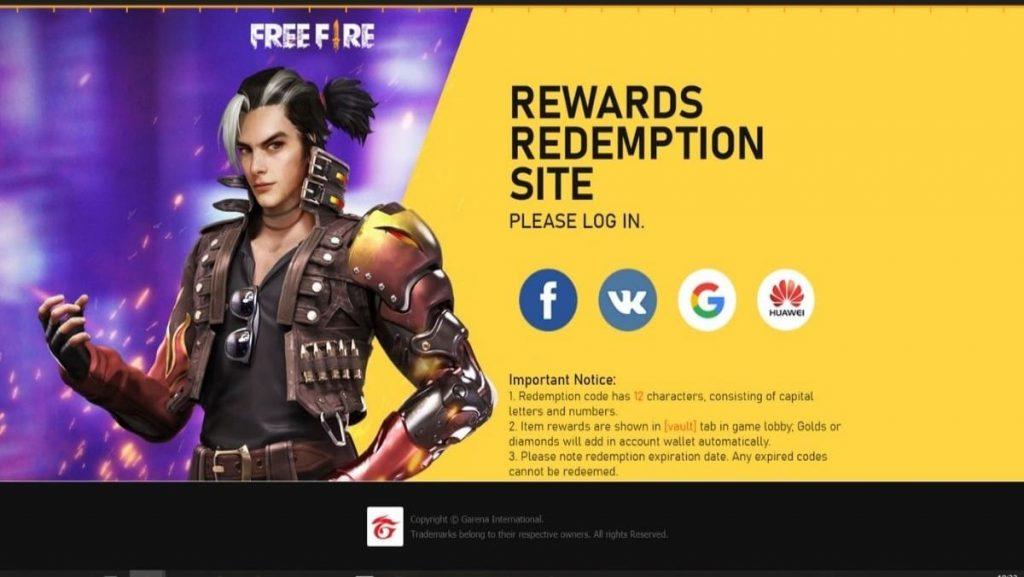 free fire redeem codes - FirstSportz