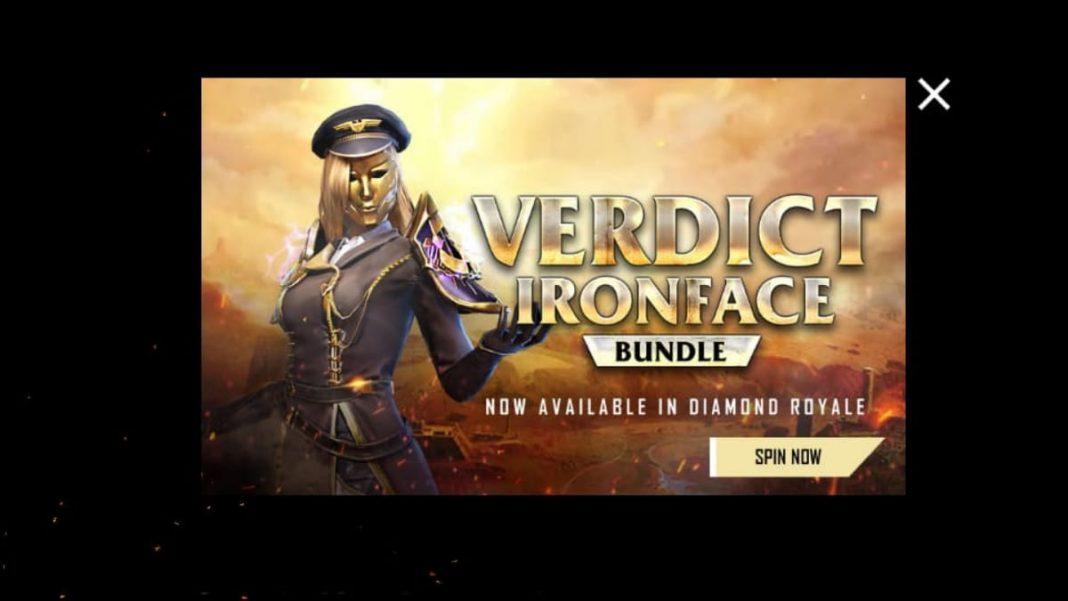 Free Fire Verdict Ironface bundle