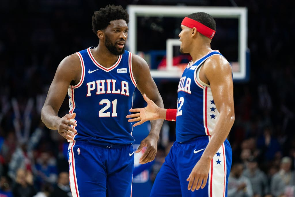joel embiid and tobias harris - FirstSportz