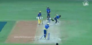 MS Dhoni Harishankar Reddy wicket