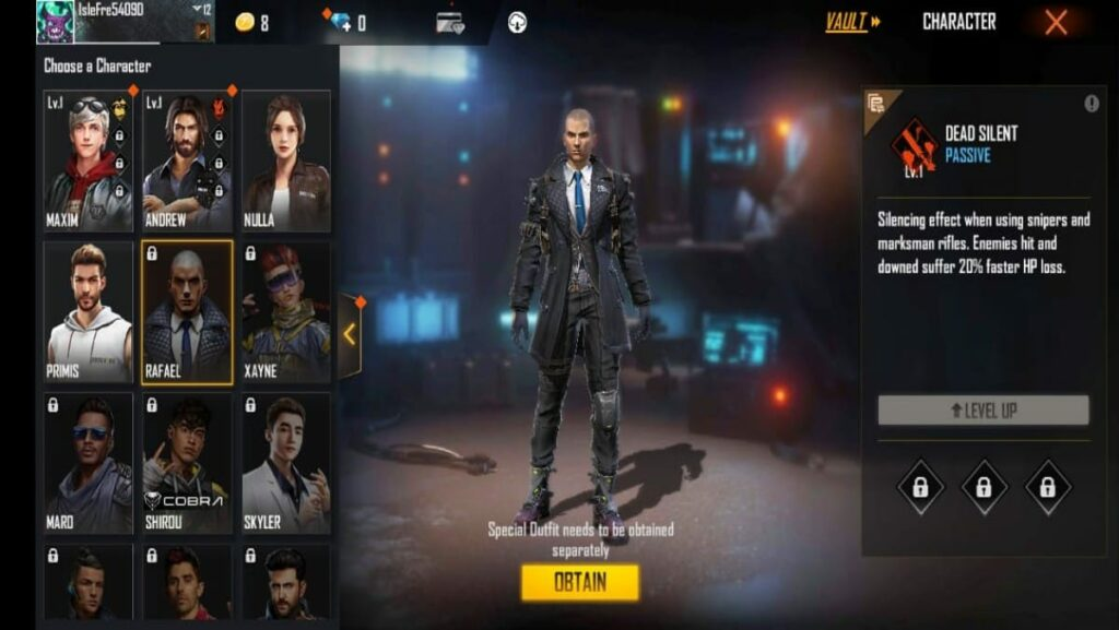 3 best characters in Free Fire for new players