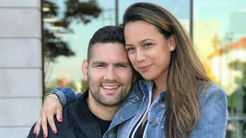 Chris Weidman and his wife