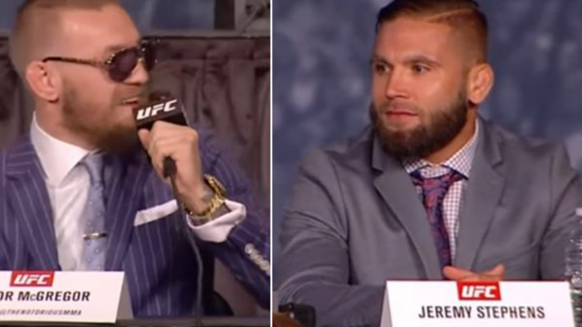 Conor McGregor and Jeremy Stephens