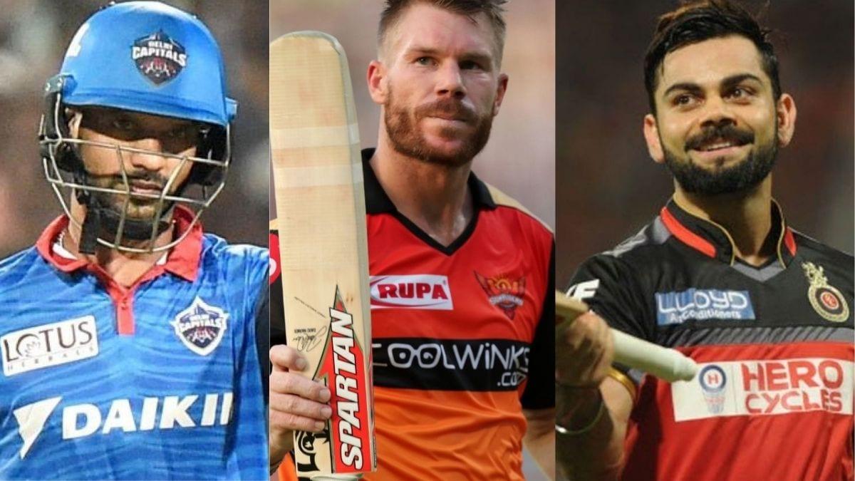 Shikhar Dhawan, David Warner and Virat Kohli