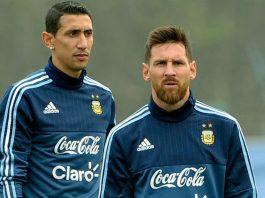 Di Maria and Lionel Messi