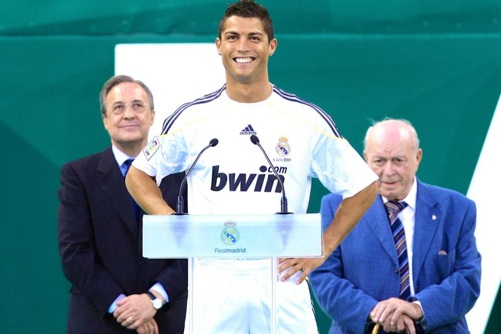 Florentino Perezs biggest signing so far for Real Madrid Cristiano Ronaldo in 2009 from Manchester United - FirstSportz
