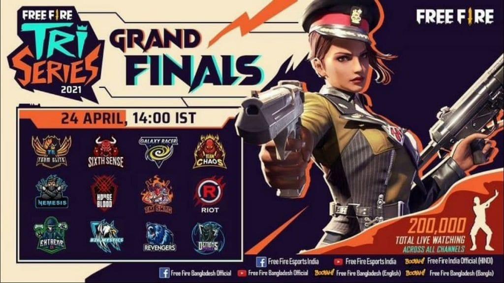 Free Fire Tri-Series 2021 Finals Schedule