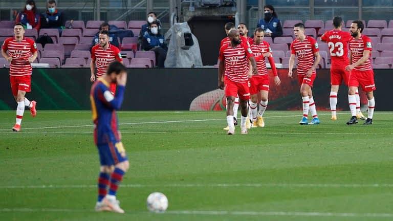 Granada emerge 2-1 winners over Barcelona