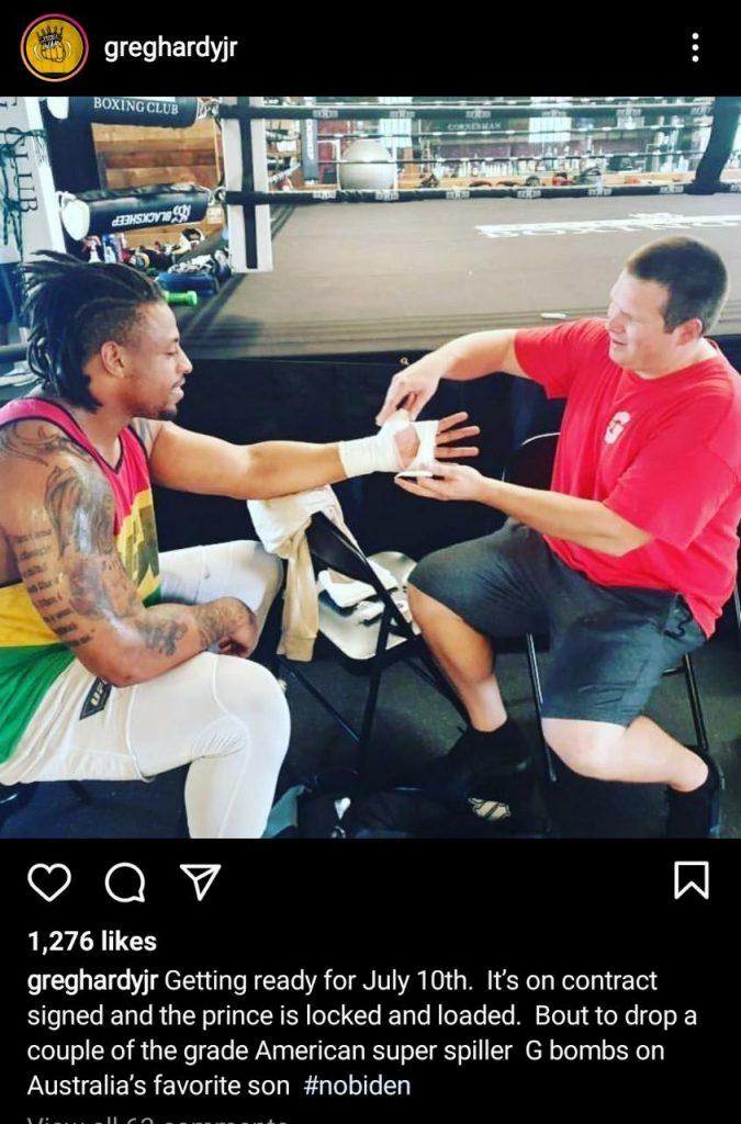 Greg Hardy instagram - FirstSportz