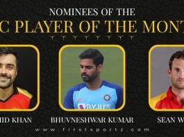 ICC Player of the Month March