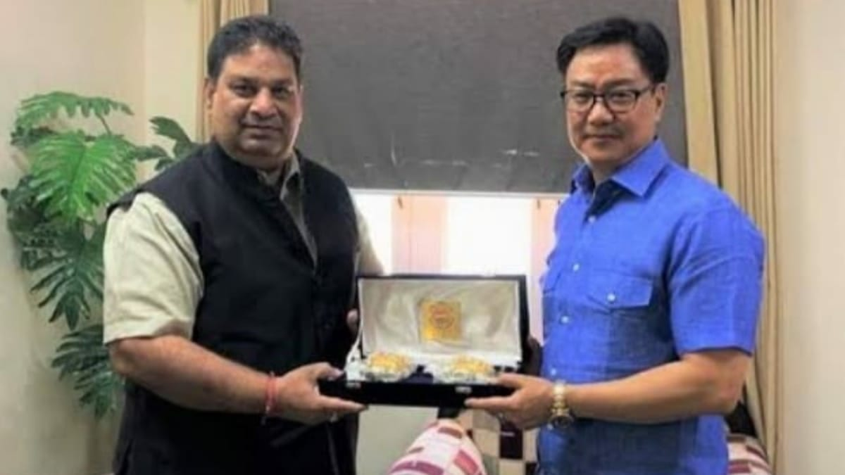 Rajeev Mehta and Kiren Rijiju