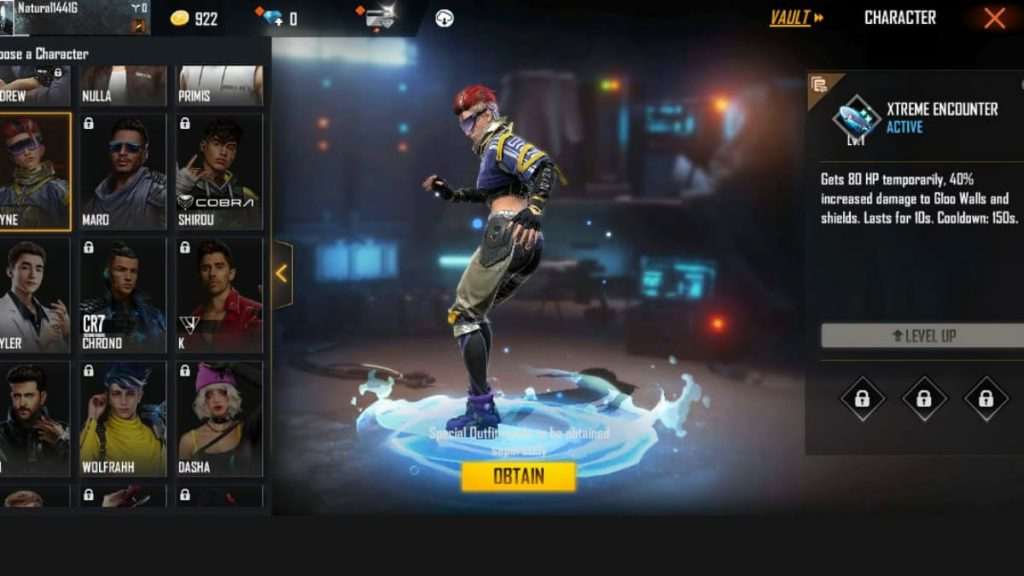 Xayne ability in Free Fire