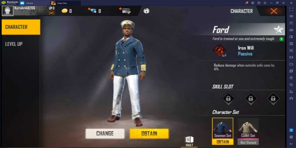 Ford Character in Free Fire