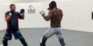 Gaethje Usman sparring