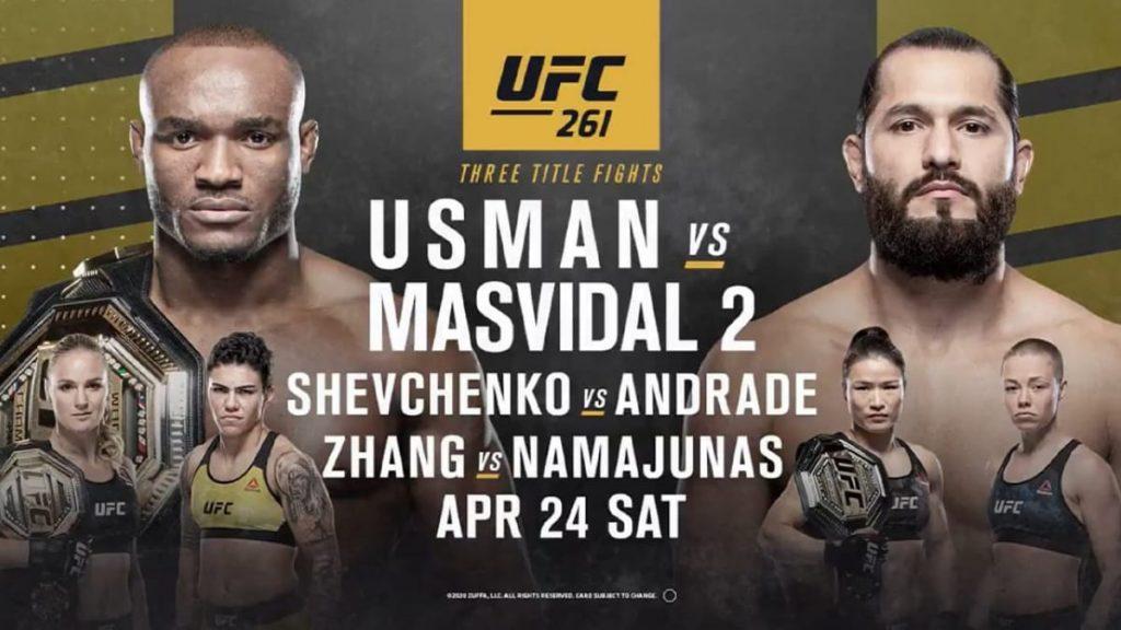 UFC 261 Full Fight Card