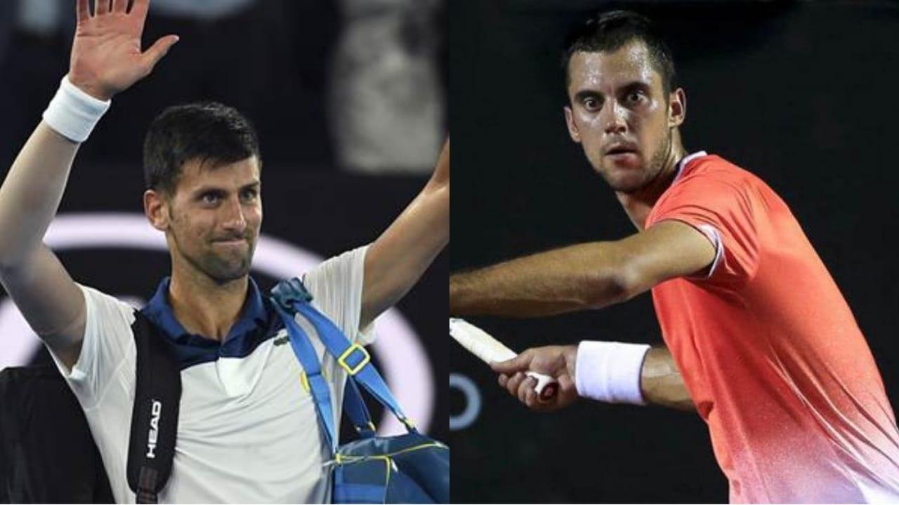 Laslo Djere and Novak Djokovic