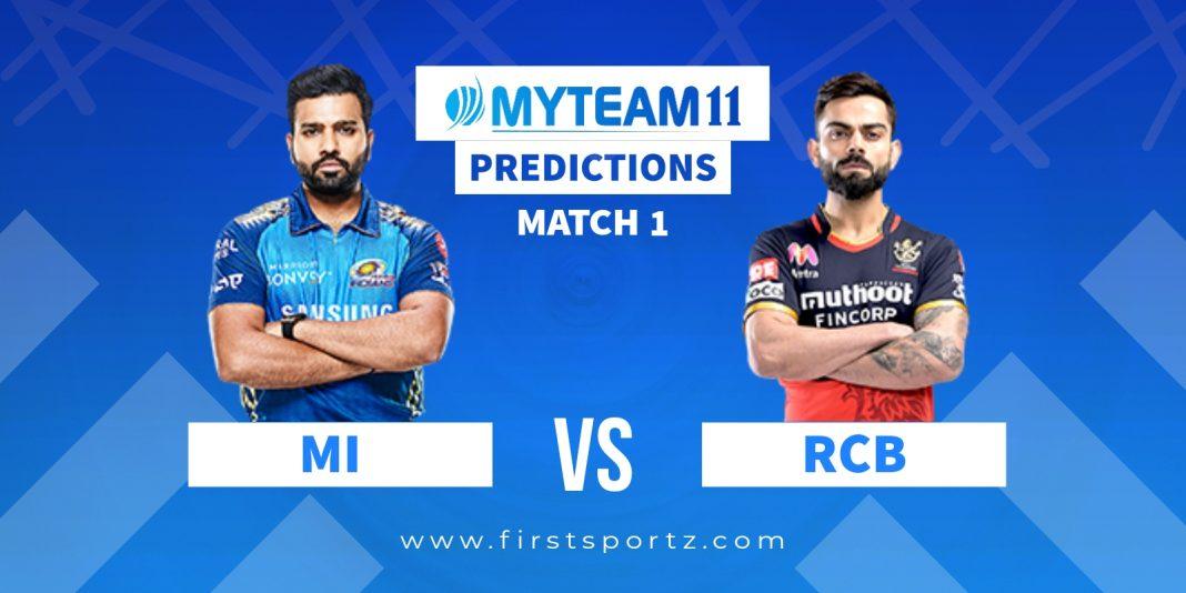 Mumbai Indians vs Royal Challengers Bangalore My Team 11 prediction