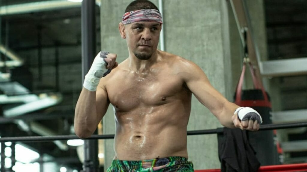 Nick Diaz training