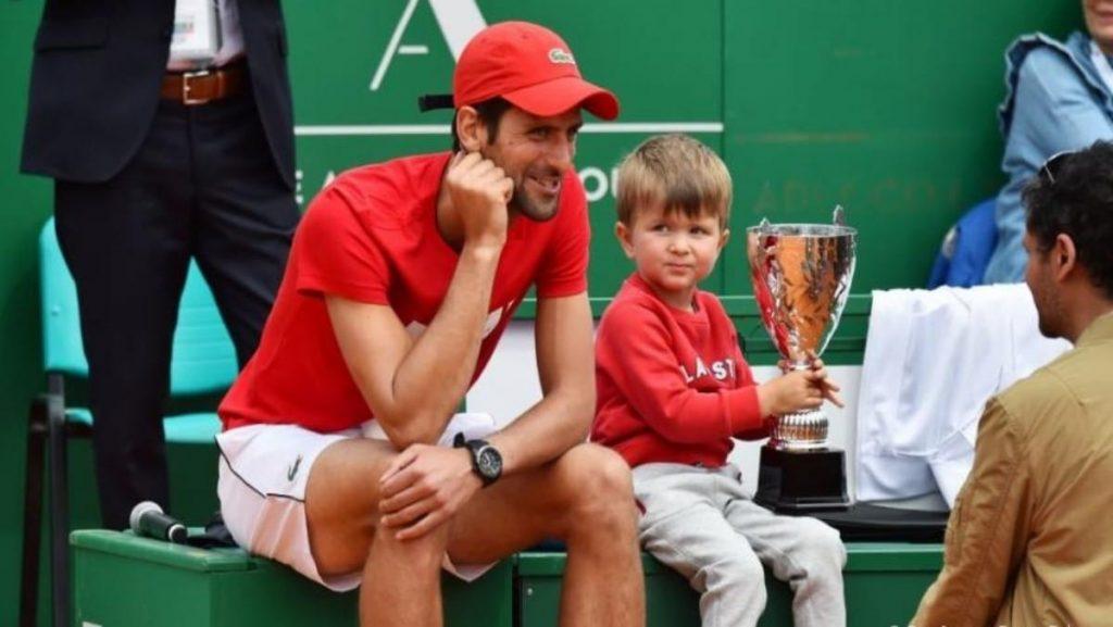 Novak Djokovic and Son Stefan