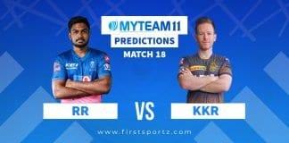 Rajasthan Royals (RR) vs Kolkata Knight Riders (KKR)