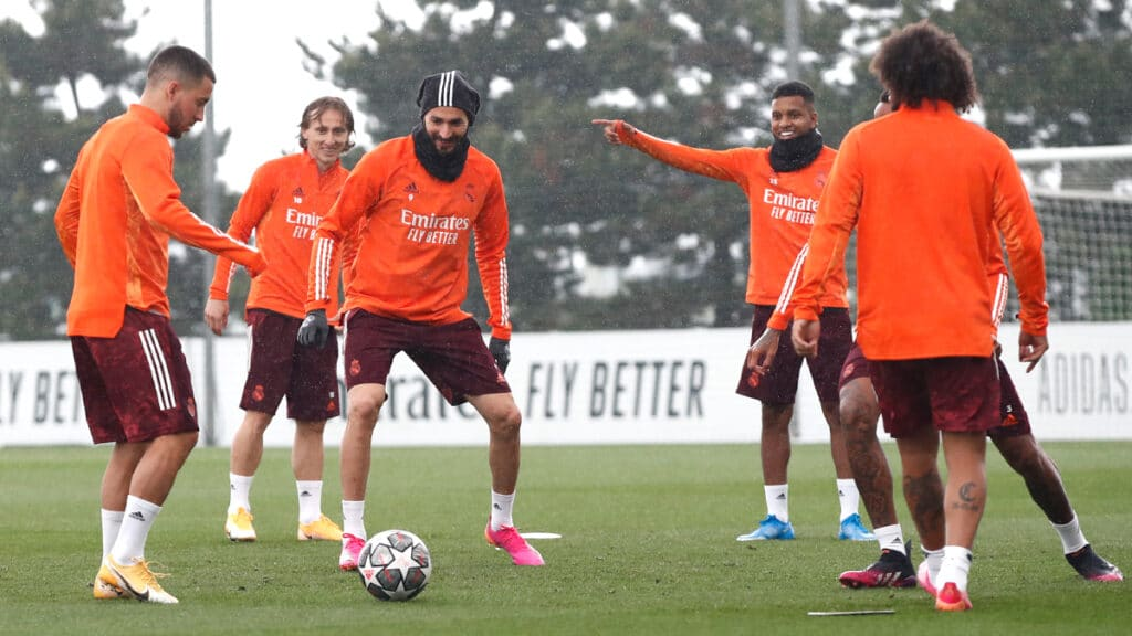 Real Madrid players in training ahead of the Champions League semi finals 1 - FirstSportz