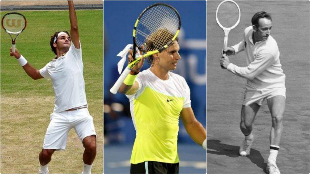 Roger Federer Rafael Nadal Rod Laver