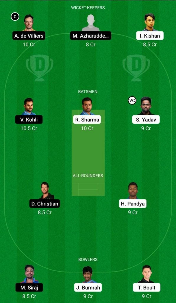 MI vs RCB IPL 2021 Dream11