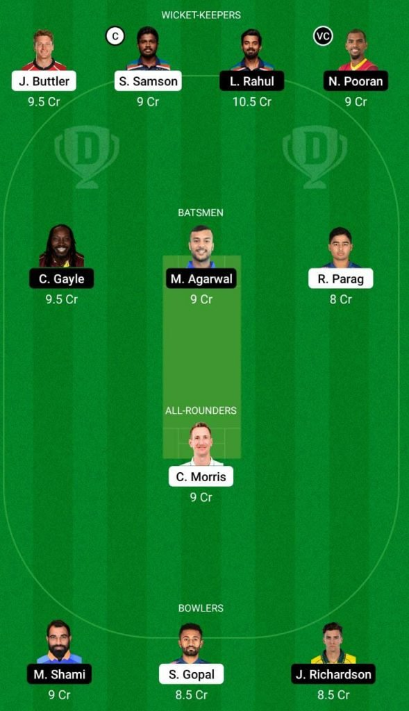 RR vs PBKS IPL 2021 Dream11