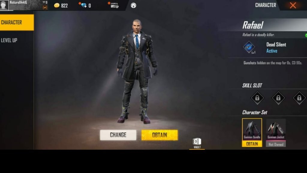 first male character in free fire