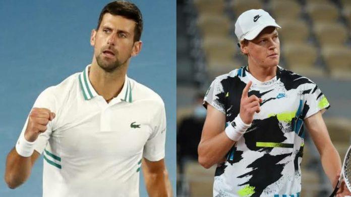 Novak Djokovic and Jannik Sinner