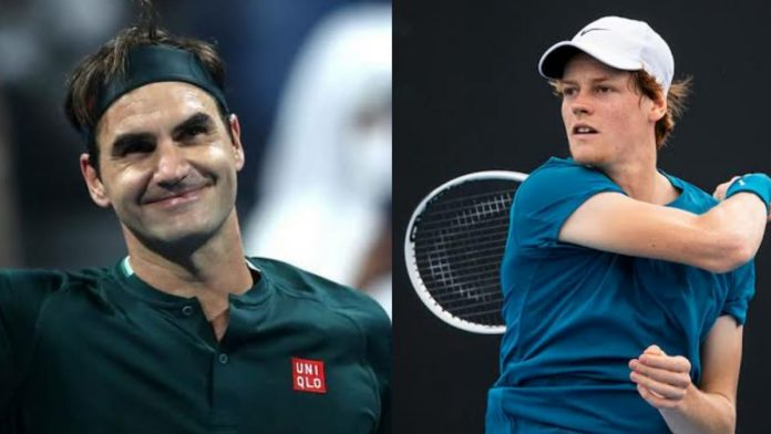Roger Federer and Jannik Sinner