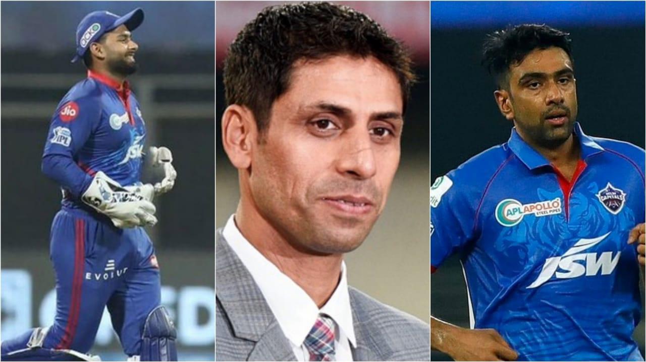 Rishabh Pant, Ashish Nehra and Ravi Ashwin