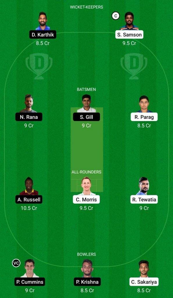 RR vs KKR IPL 2021 Dream11