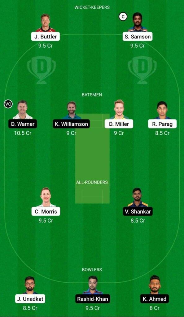 RR vs SRH IPL 2021 Dream11