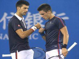Novak Djokovic with brother Djordje