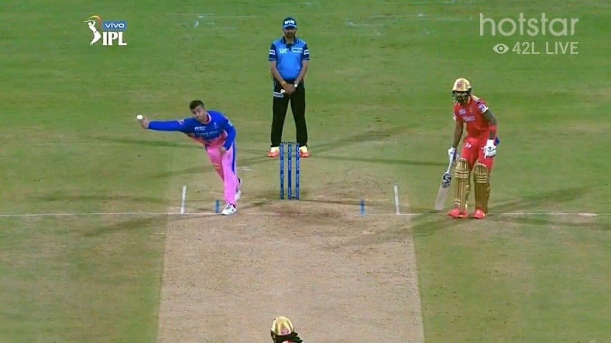 Riyan Parag bowling action